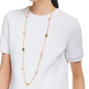 """Tory Burch Gold Dipped """"Evie"""" Chain Rosary"""